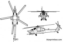 mil mi 28 havoc model airplane plan