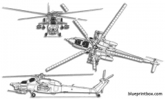 mil mi 28 havoc 3 model airplane plan