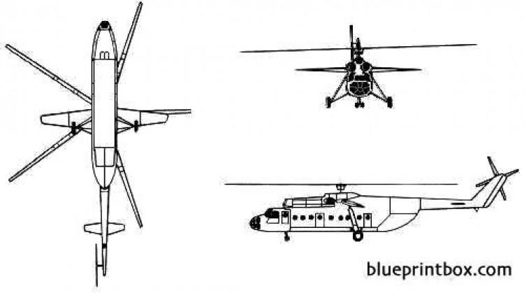 mil mi 6 model airplane plan