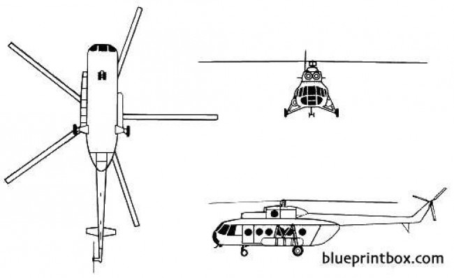mil mi 8 hip model airplane plan