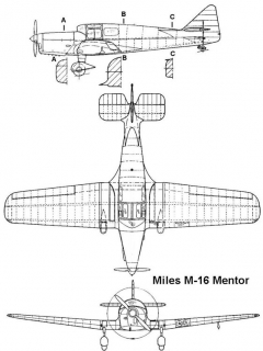 miles m16 3v model airplane plan