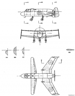 miles m35 model airplane plan