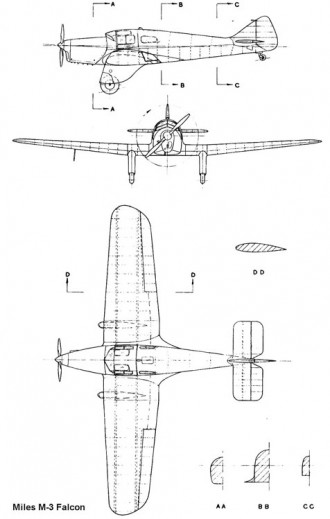 miles m3 3v model airplane plan