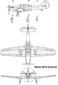 miles m9 3v model airplane plan