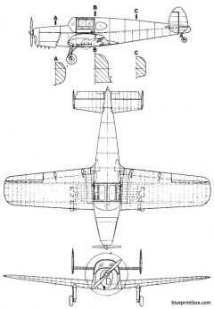 miles m 28 mercury model airplane plan