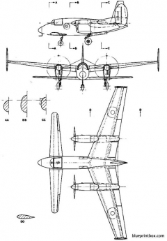 miles m 39b libellula 2 model airplane plan