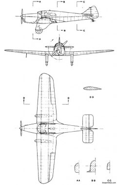 miles m 3 falcon model airplane plan