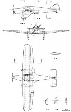 miles m 3 falcon model airplane plan