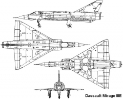 mirage3e 3v model airplane plan