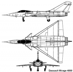 mirage4000 3v model airplane plan