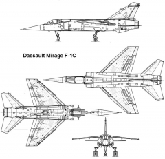 mirage f1 3v model airplane plan