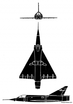 mirage iii a model airplane plan