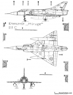mirage iiic 2 model airplane plan