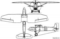 mitsubishi 1mf2 hayabusa 1928 japan model airplane plan