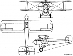 mitsubishi 1mf  type 10 1921 japan model airplane plan