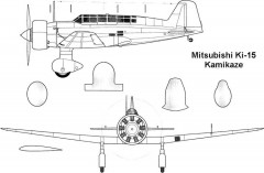 mitsubishi ki15 1 3v model airplane plan