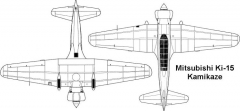mitsubishi ki15 2 3v model airplane plan
