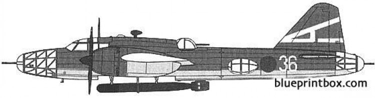 mitsubishi ki67 type 4 model airplane plan