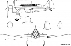 mitsubishi ki 15 kamikazebabs model airplane plan