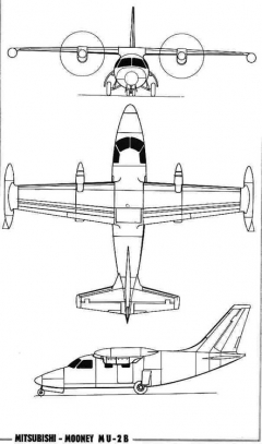 mitsubishi m2 3v model airplane plan