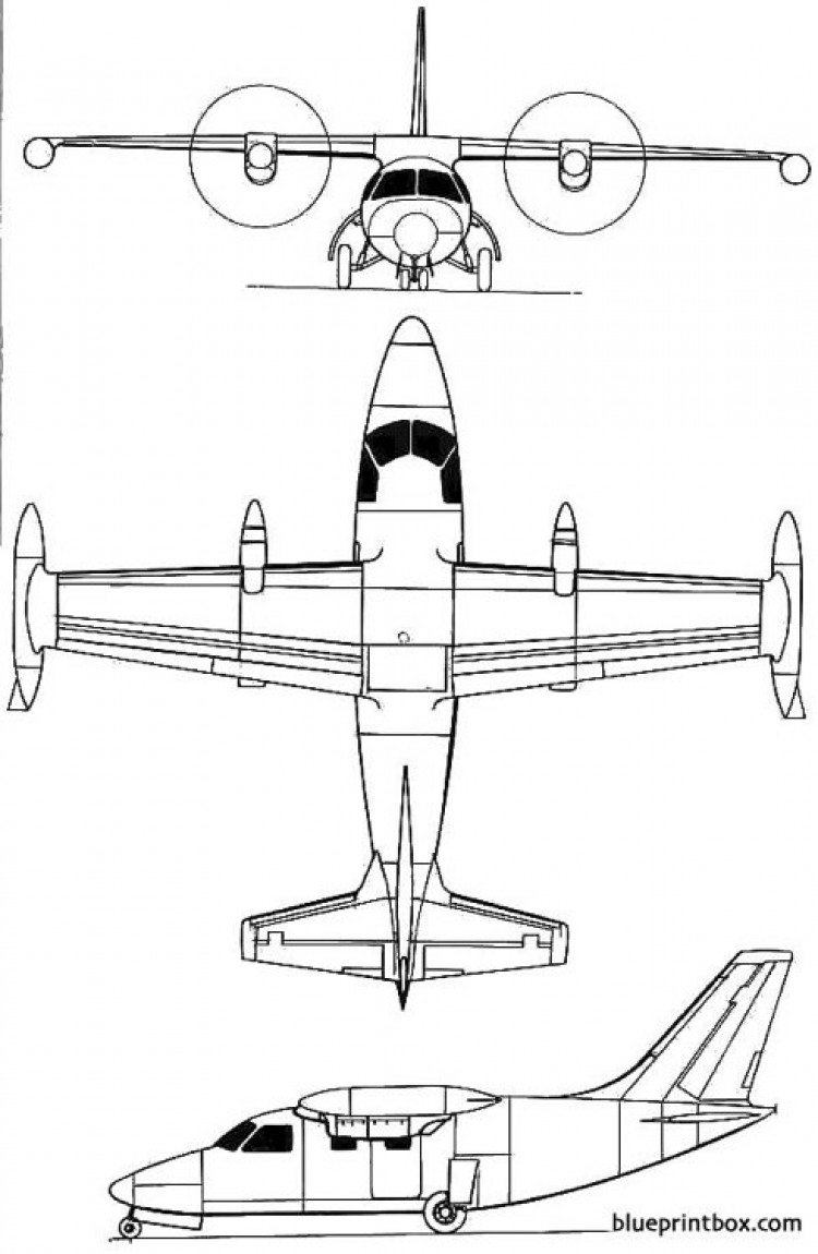 mitsubishi m 2 model airplane plan