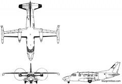 mitsubishi marquise model airplane plan