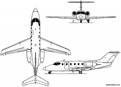 mitsubishi mu 300  diamond 1978 japan model airplane plan