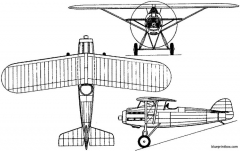 morane saulnier mos ms 121 1927 france model airplane plan