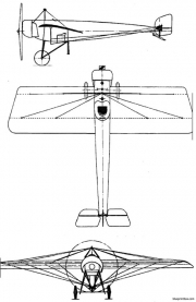 morane saulnier type h model airplane plan