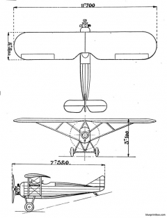 morane saulnierms 50 model airplane plan