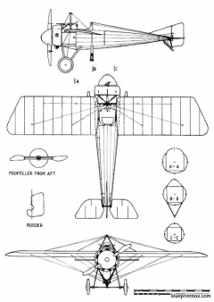 morane saulniern model airplane plan