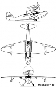moskalev116 3v model airplane plan
