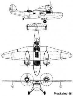 moskalev16 3v model airplane plan