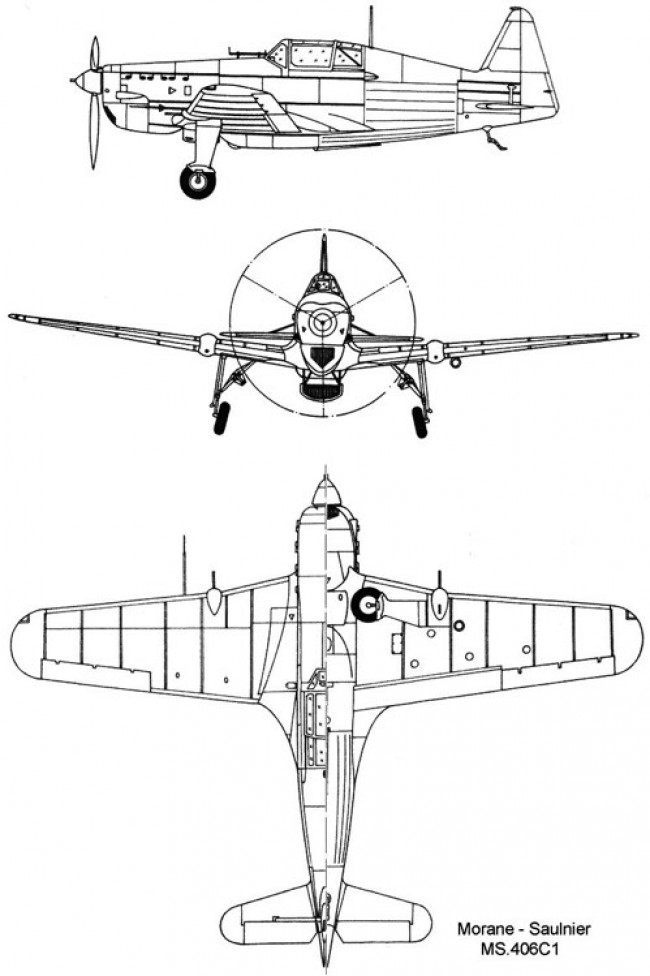 ms406 3v model airplane plan