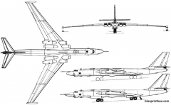 myasishchev m 4  3m 1954 russia model airplane plan