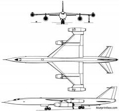myasishchev m 50 1961 russia model airplane plan
