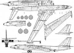 myasishev m3bison 3v model airplane plan