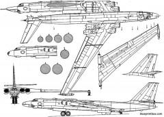 myasishev m 3 bison 2 model airplane plan