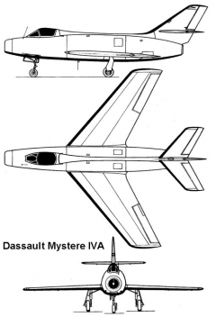 mystere4 3v model airplane plan