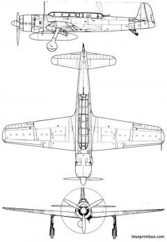 nakajima c6n1 saiun myrt model airplane plan