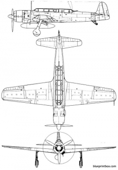 nakajima c6n1 saiun myrt model airplane plan