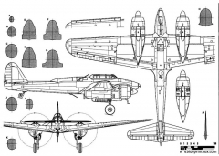 nakajima j1n1 gekko irving model airplane plan