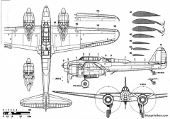 nakajima j1n1 gekko irving 3 model airplane plan