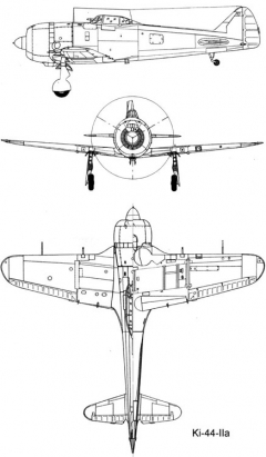 nakajima ki44 3v model airplane plan