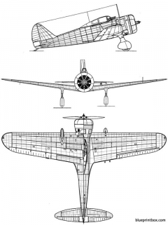 nakajima ki 27 otsunate model airplane plan