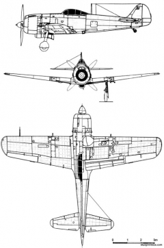 nakajima ki 84 hayate frank model airplane plan