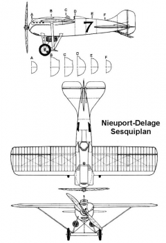 nid sesqui 3v model airplane plan
