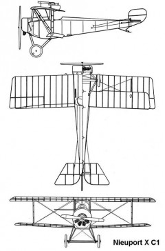nieuport10 3v model airplane plan