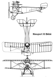 nieuport11 3v model airplane plan