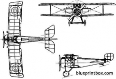 nieuport 17 biplane model airplane plan
